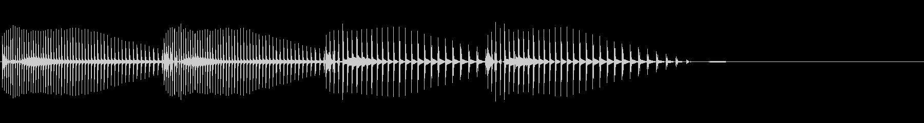 可愛らしいダメージ音 誤回答の未再生の波形
