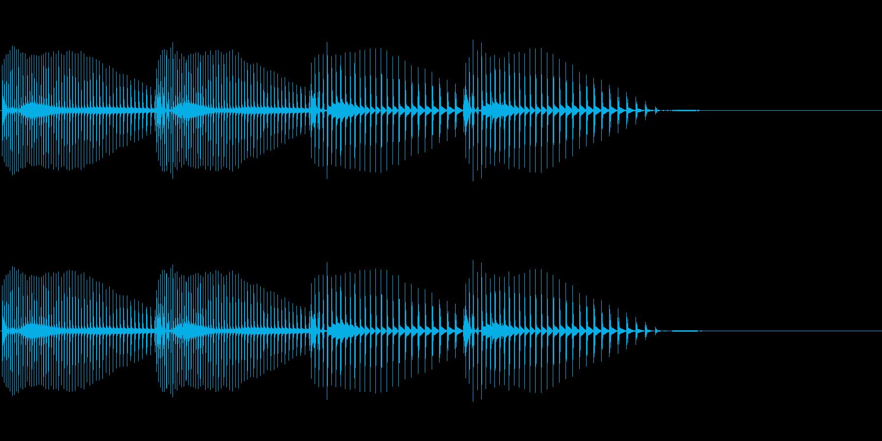 可愛らしいダメージ音 誤回答の再生済みの波形
