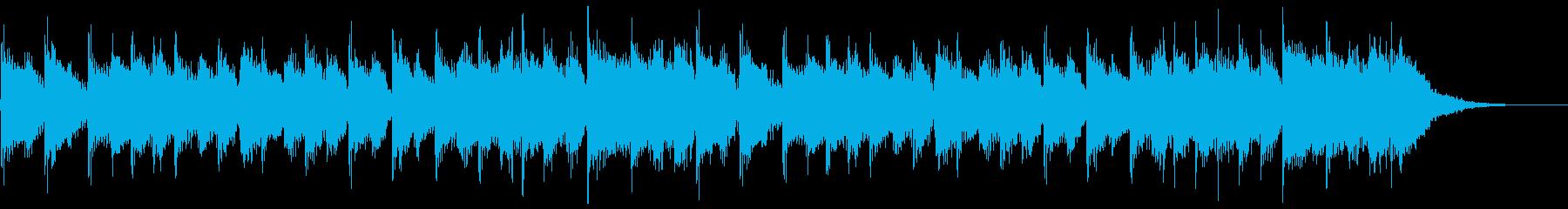 スポーツ系ジングル(16秒)の再生済みの波形