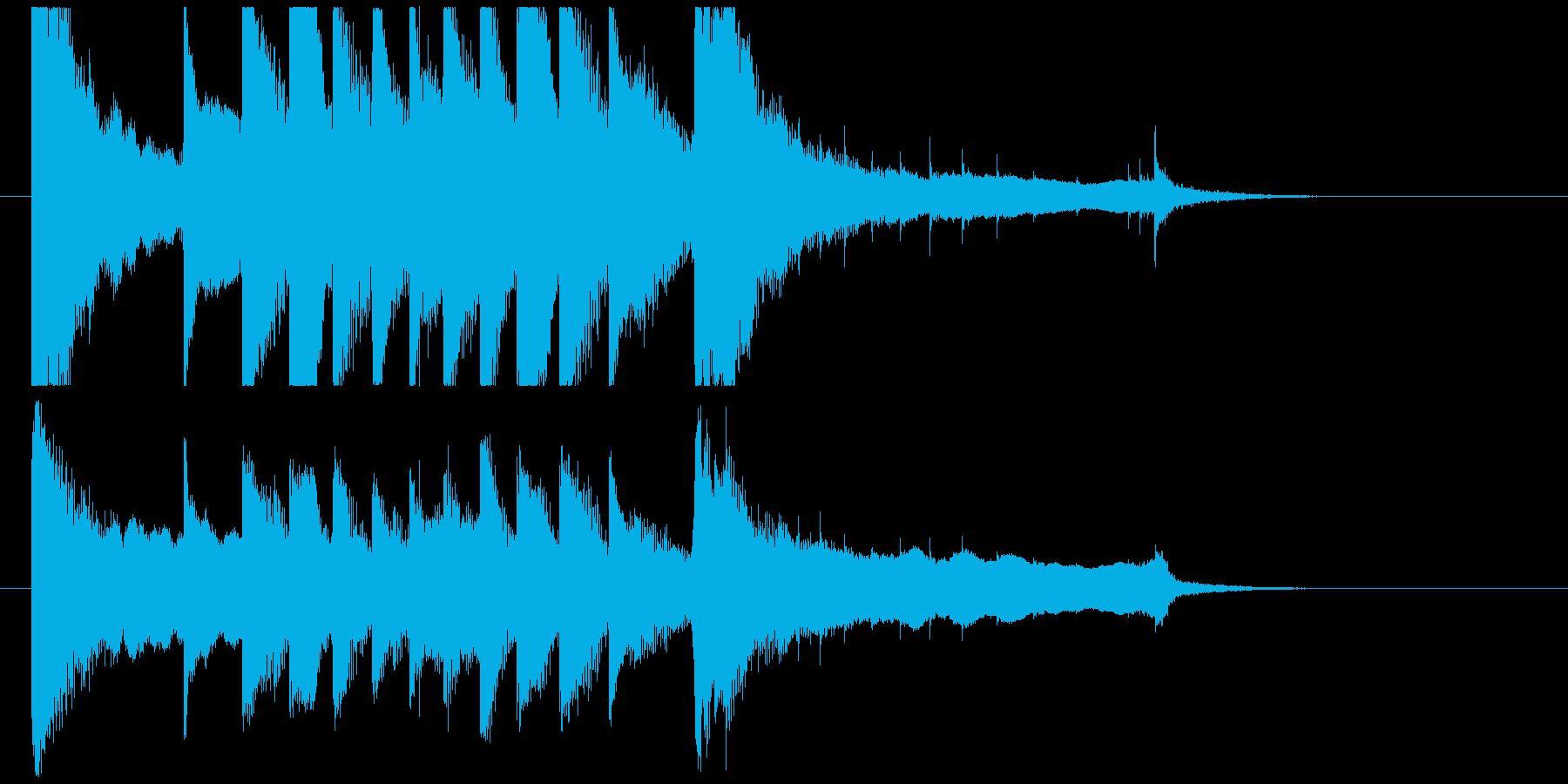 聞き馴染みのある和風・正月系ロゴ(A)の再生済みの波形
