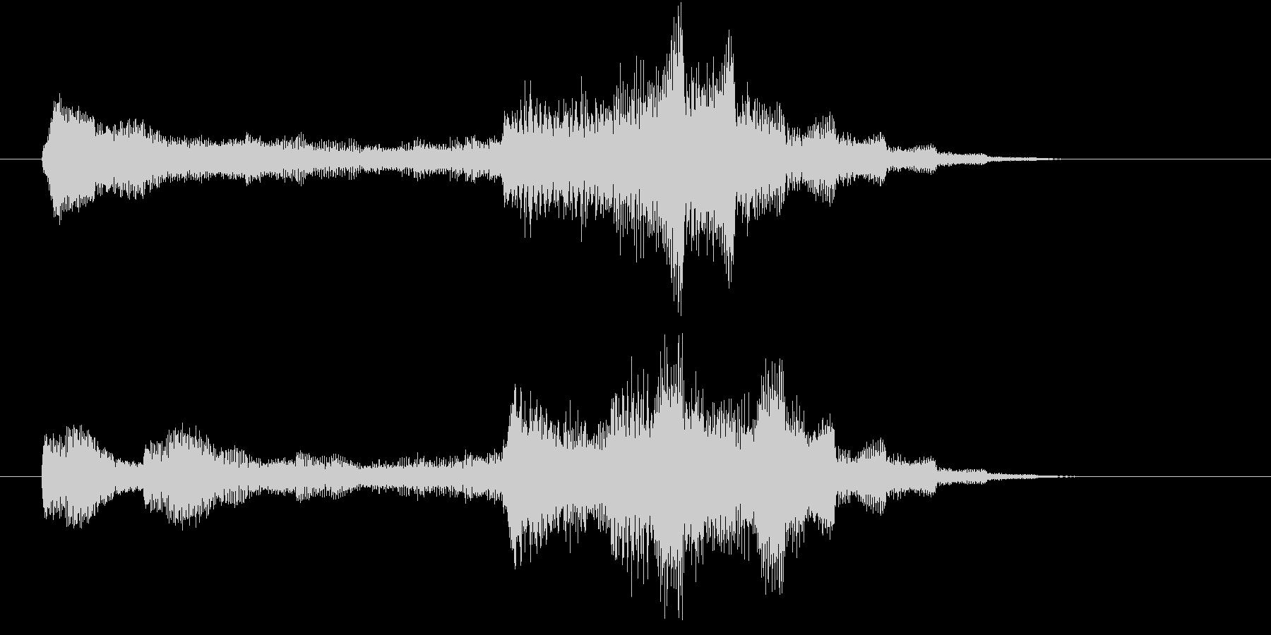 電子音による近未来的なサウンドロゴの未再生の波形