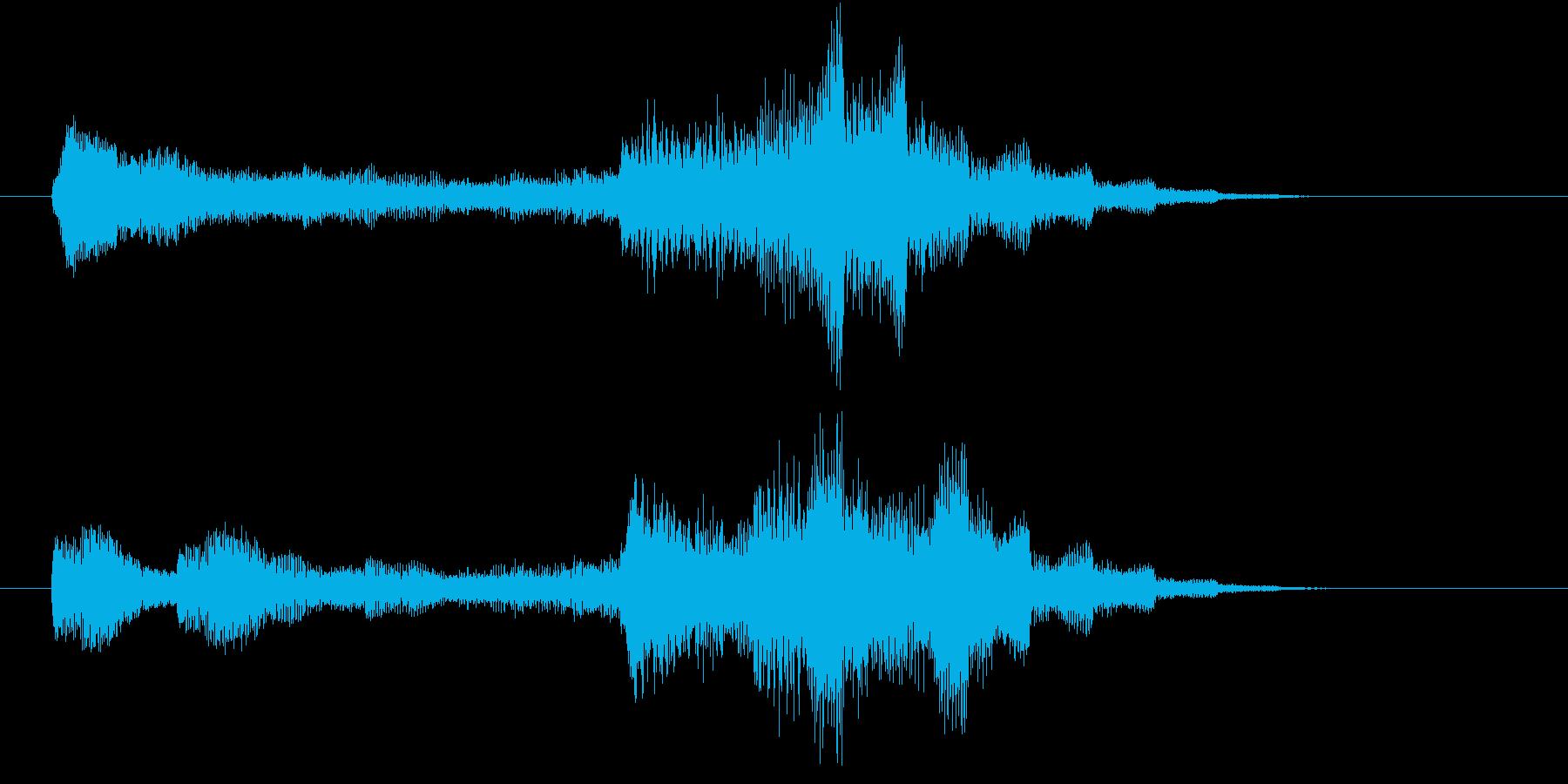 電子音による近未来的なサウンドロゴの再生済みの波形