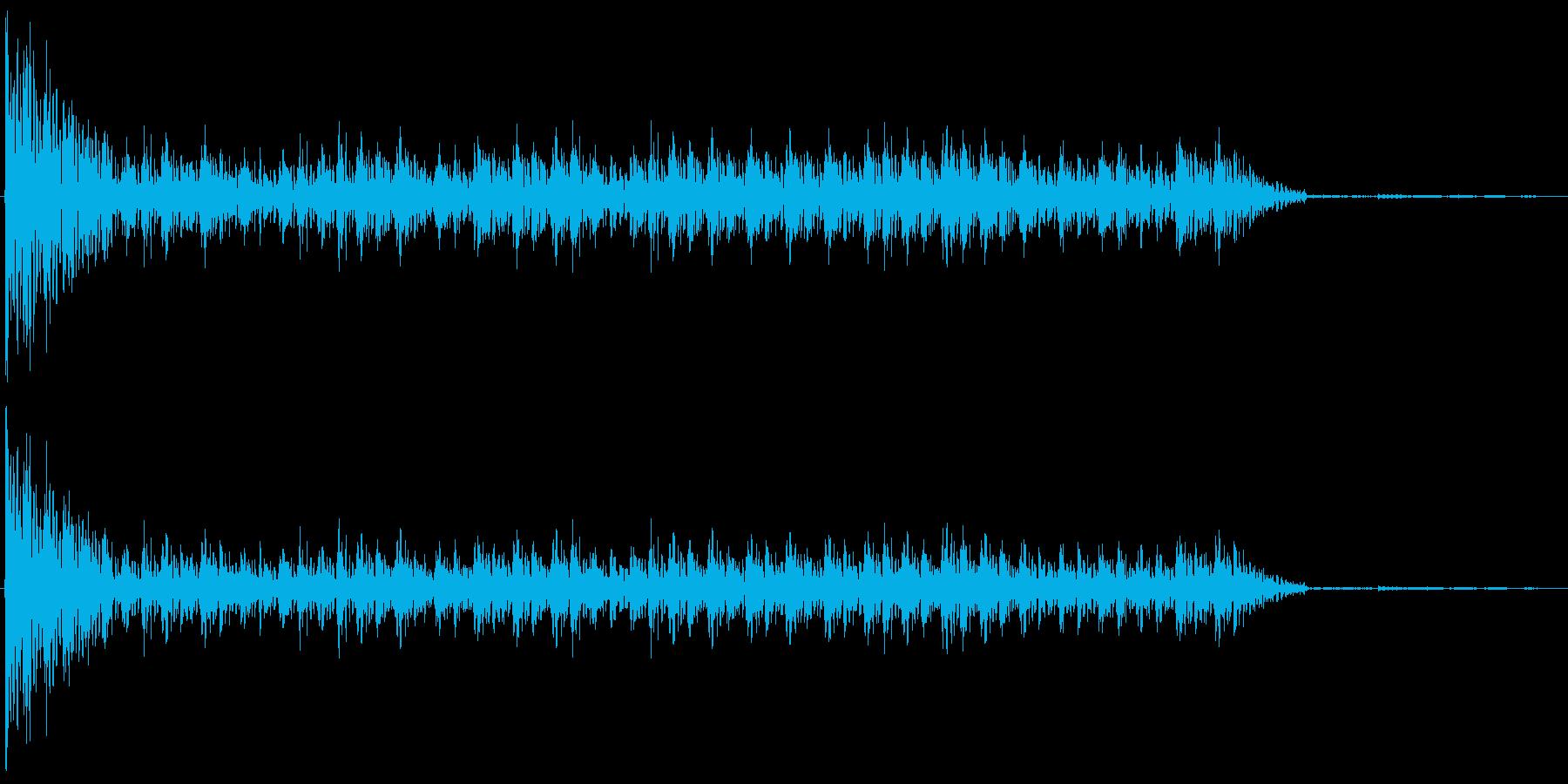 ドコドコドコドコ…(和太鼓、ロール)の再生済みの波形