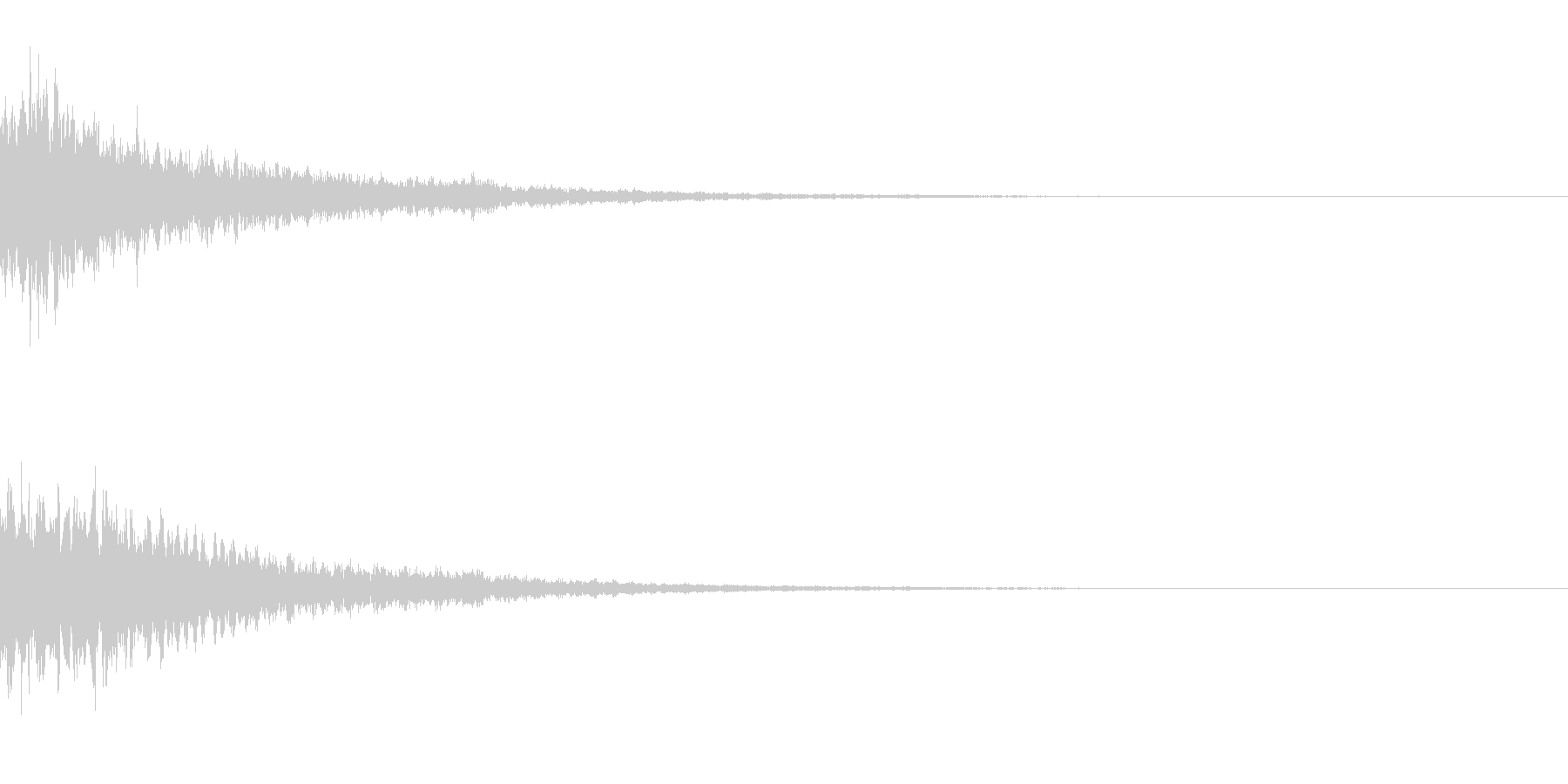 キーン(テロップ) キーン(通販_高級)の未再生の波形