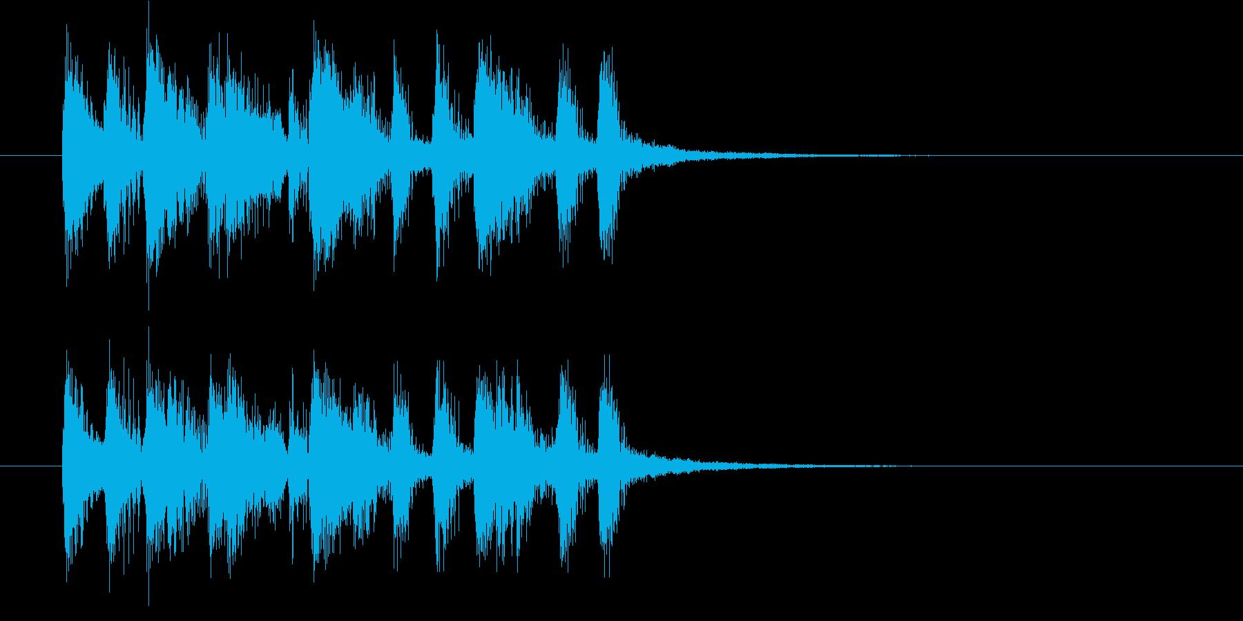 楽しげで明るいシンセサウンド短めの再生済みの波形