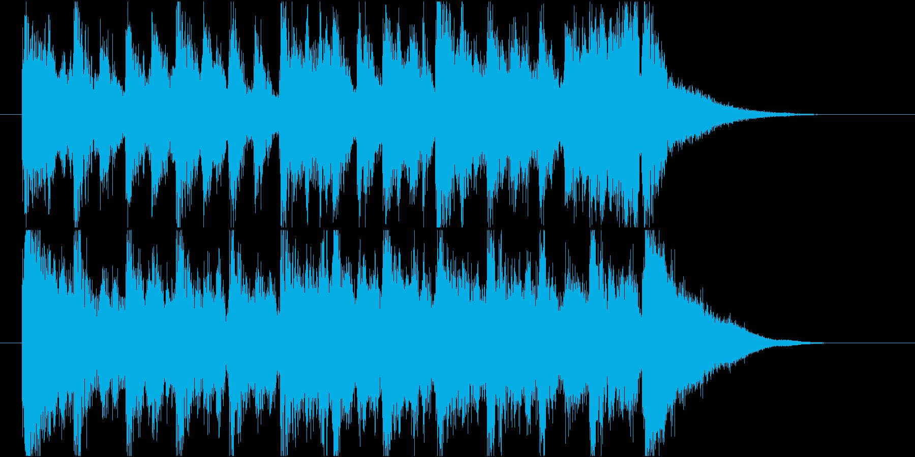 【ジングル】前向きなマーチ風ジングルの再生済みの波形