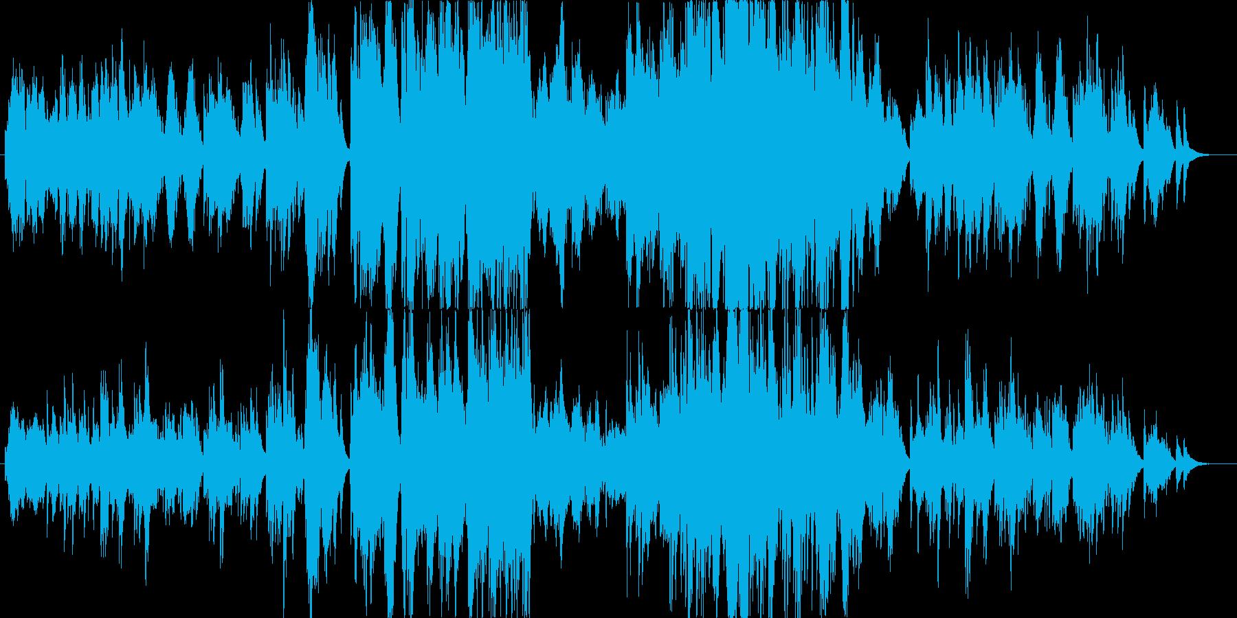 淋しげで切ないピアノソロの再生済みの波形