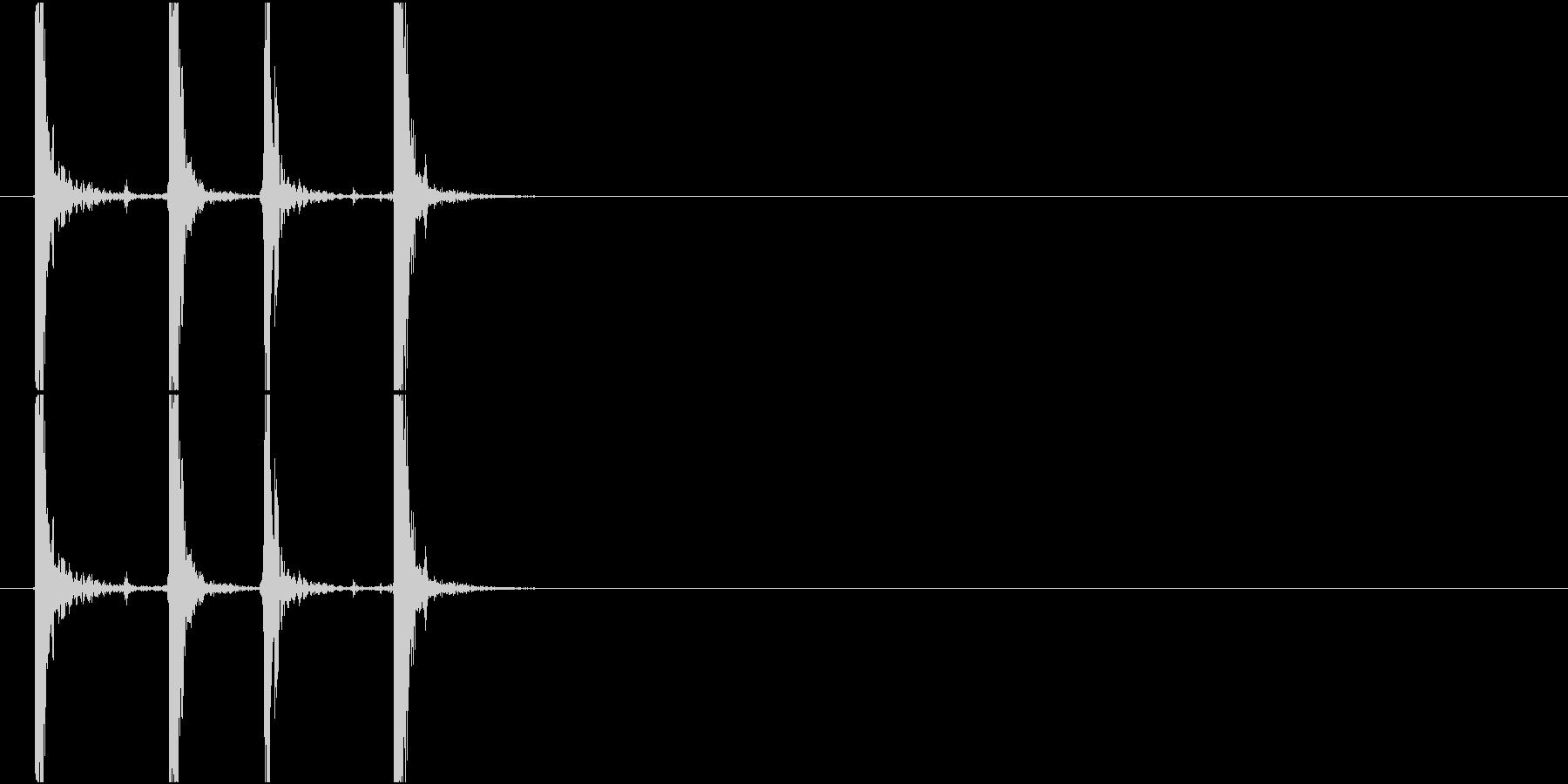 Typing キーボード 高速 2連打の未再生の波形