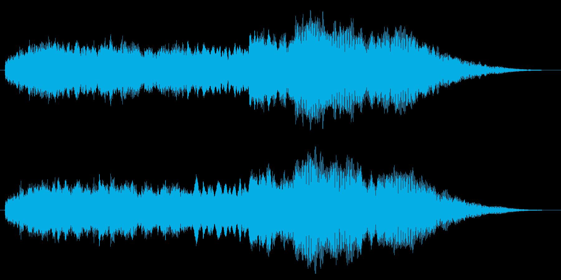 ジングル(シンセ+せせらぎ)の再生済みの波形