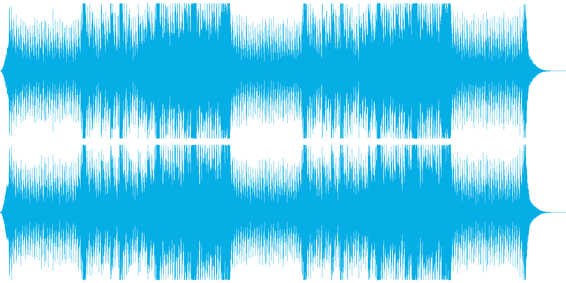 シネマティックなトランスの再生済みの波形