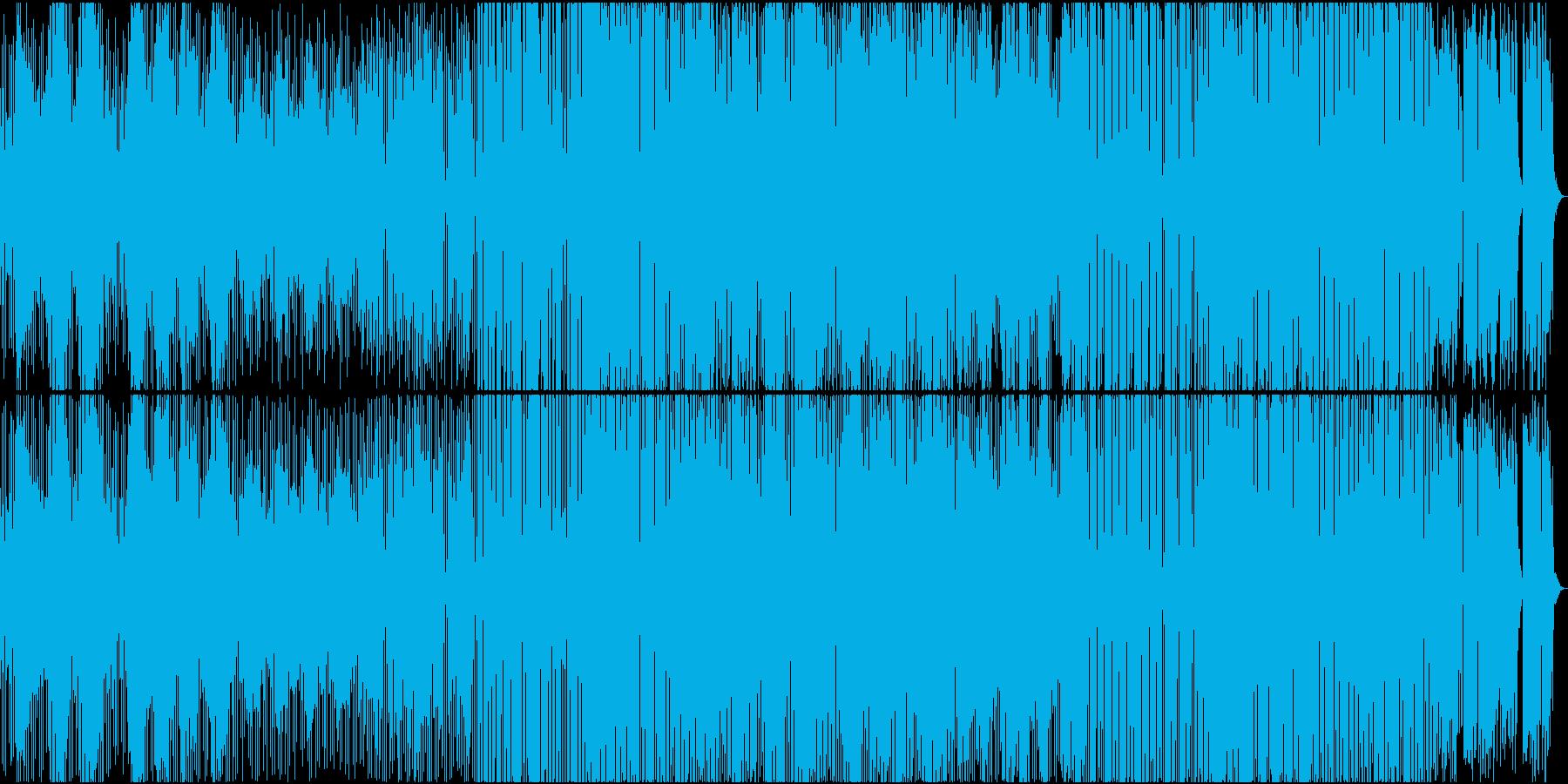 ボーカルトラック有のエンディング風BGMの再生済みの波形