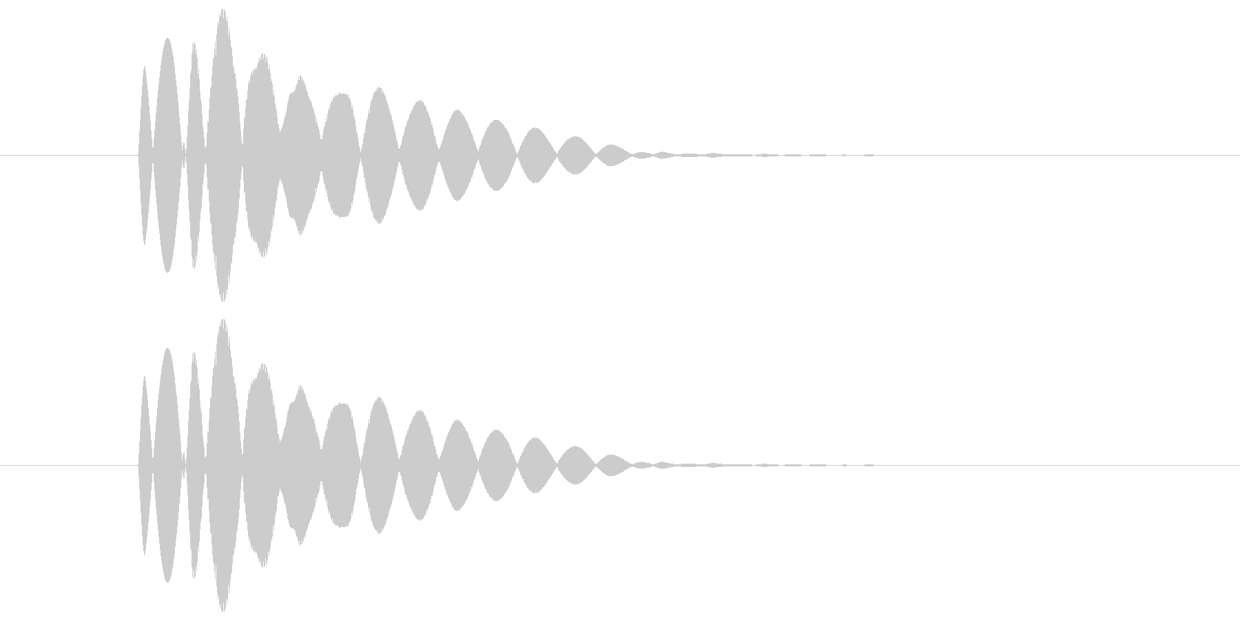 ピコーン(透明感と余韻のある音) 02の未再生の波形