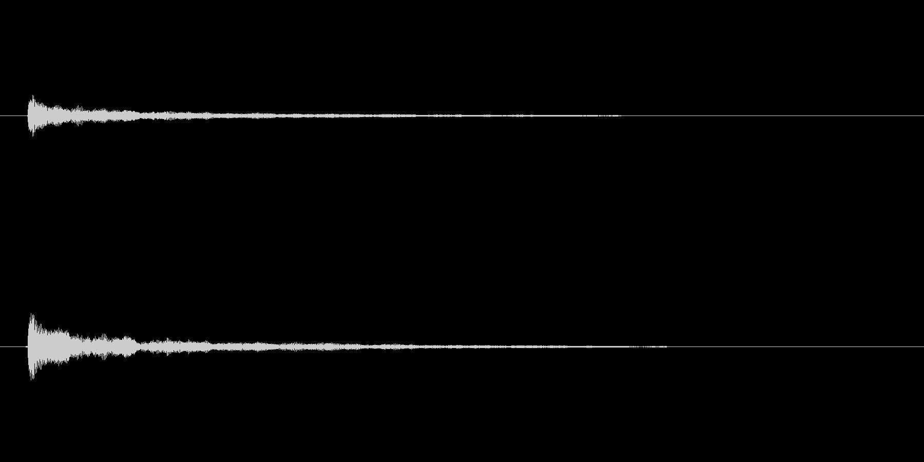 シンセコードによるサウンドロゴの未再生の波形