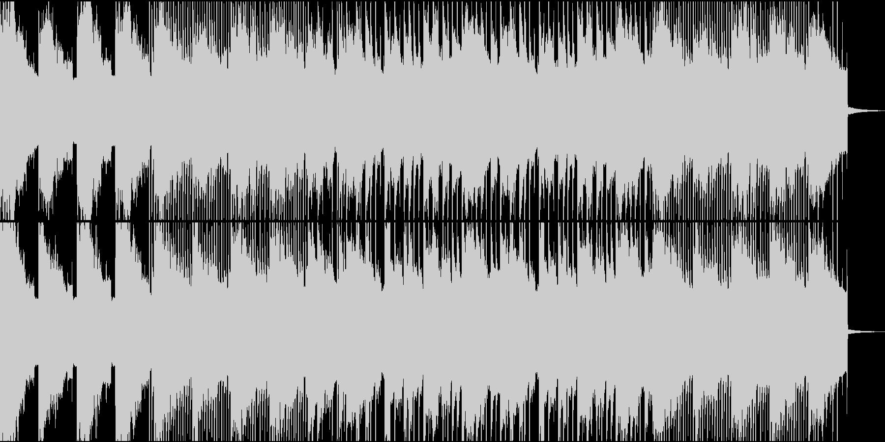 少し怪しげな起伏の少ないBGMの未再生の波形