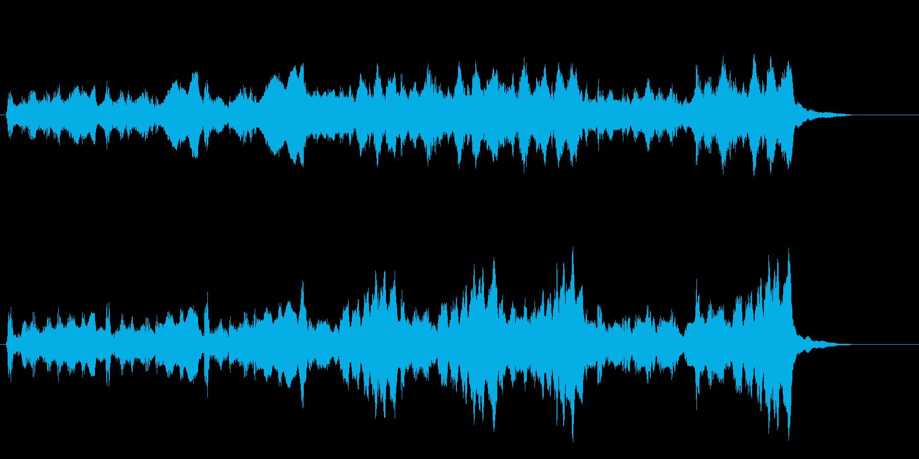 開始や終了の明るいファンファーレの再生済みの波形