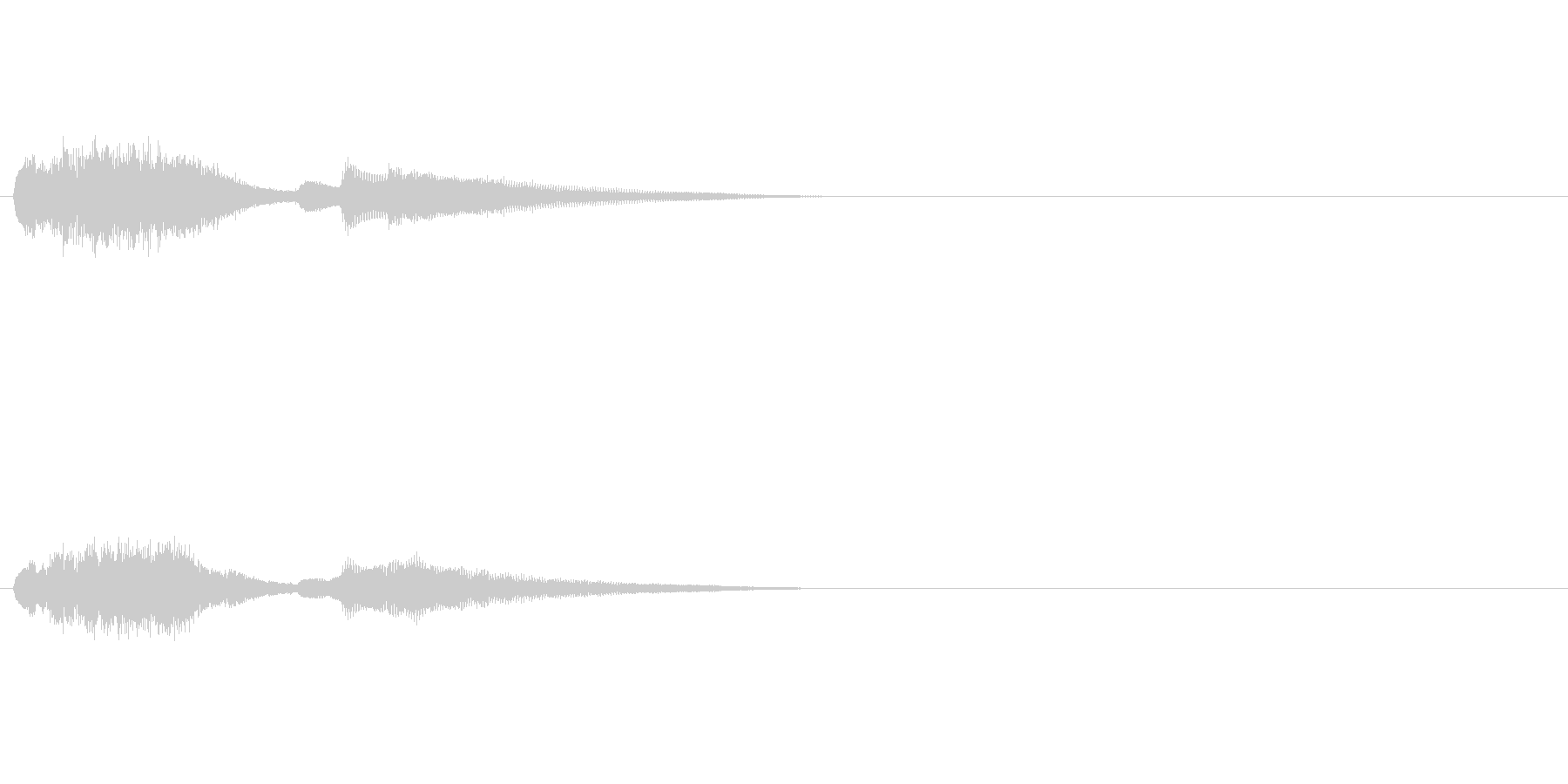 ジングル(SE向き)の未再生の波形