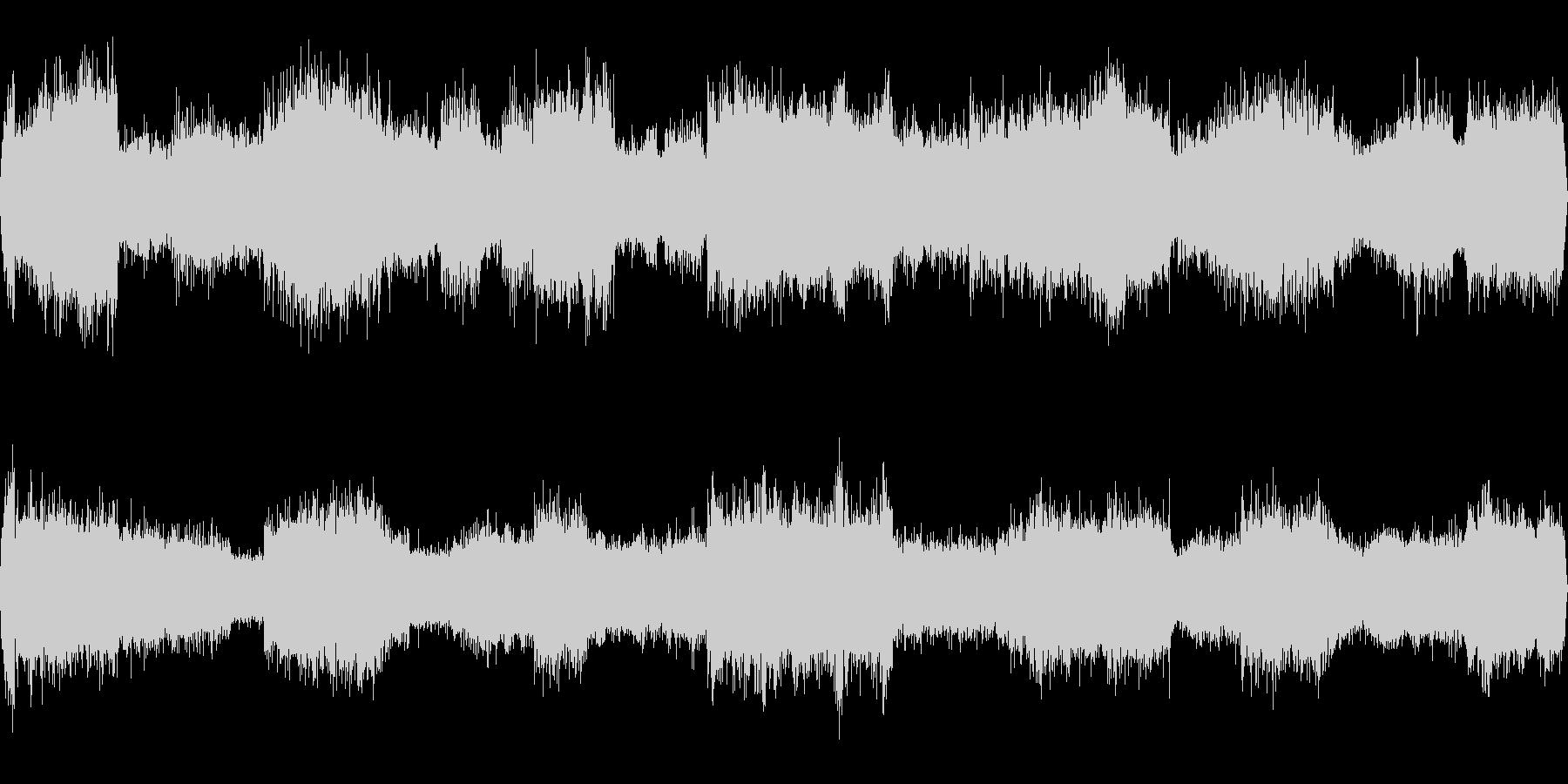 夏の田舎道(環境音)/セミやカラスの声の未再生の波形