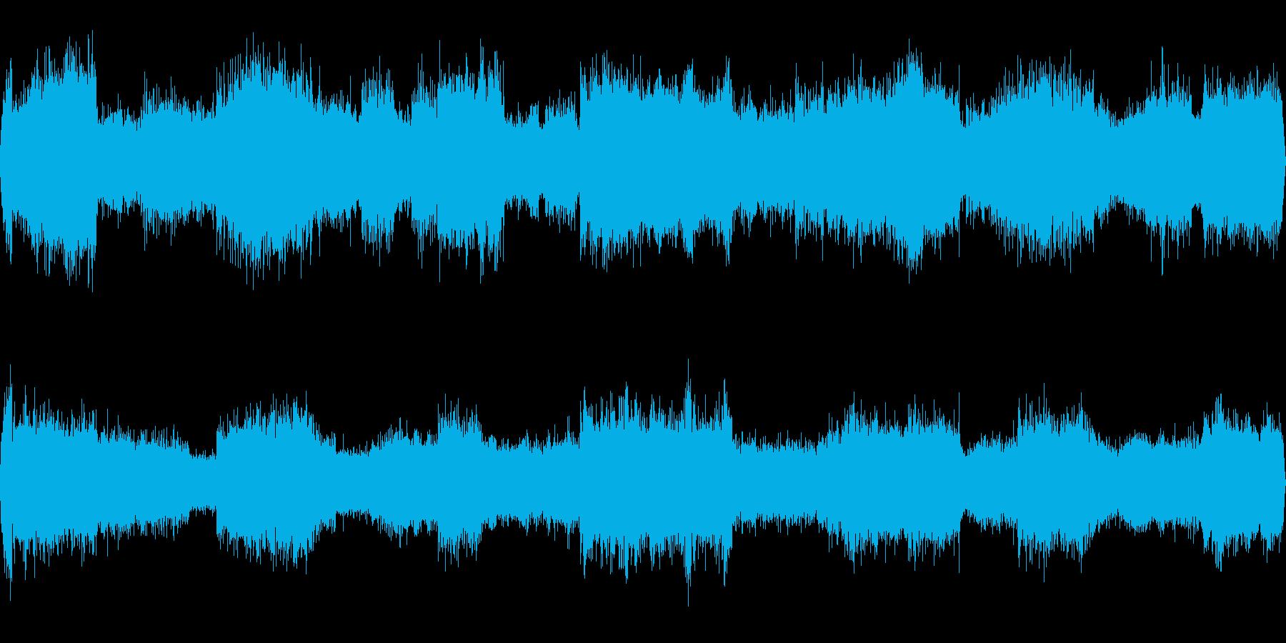 夏の田舎道(環境音)/セミやカラスの声の再生済みの波形