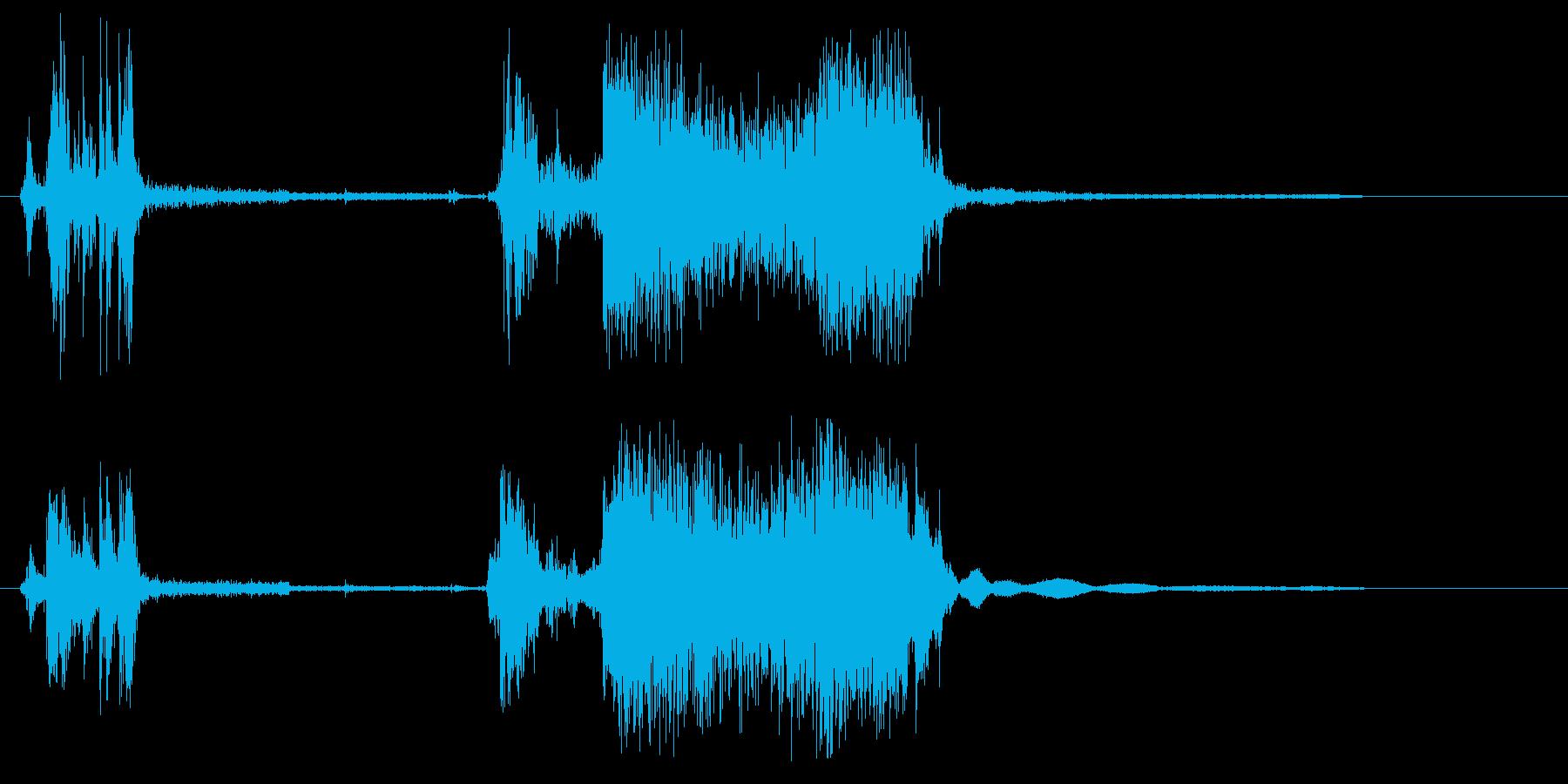 ビール缶を開ける音色の再生済みの波形