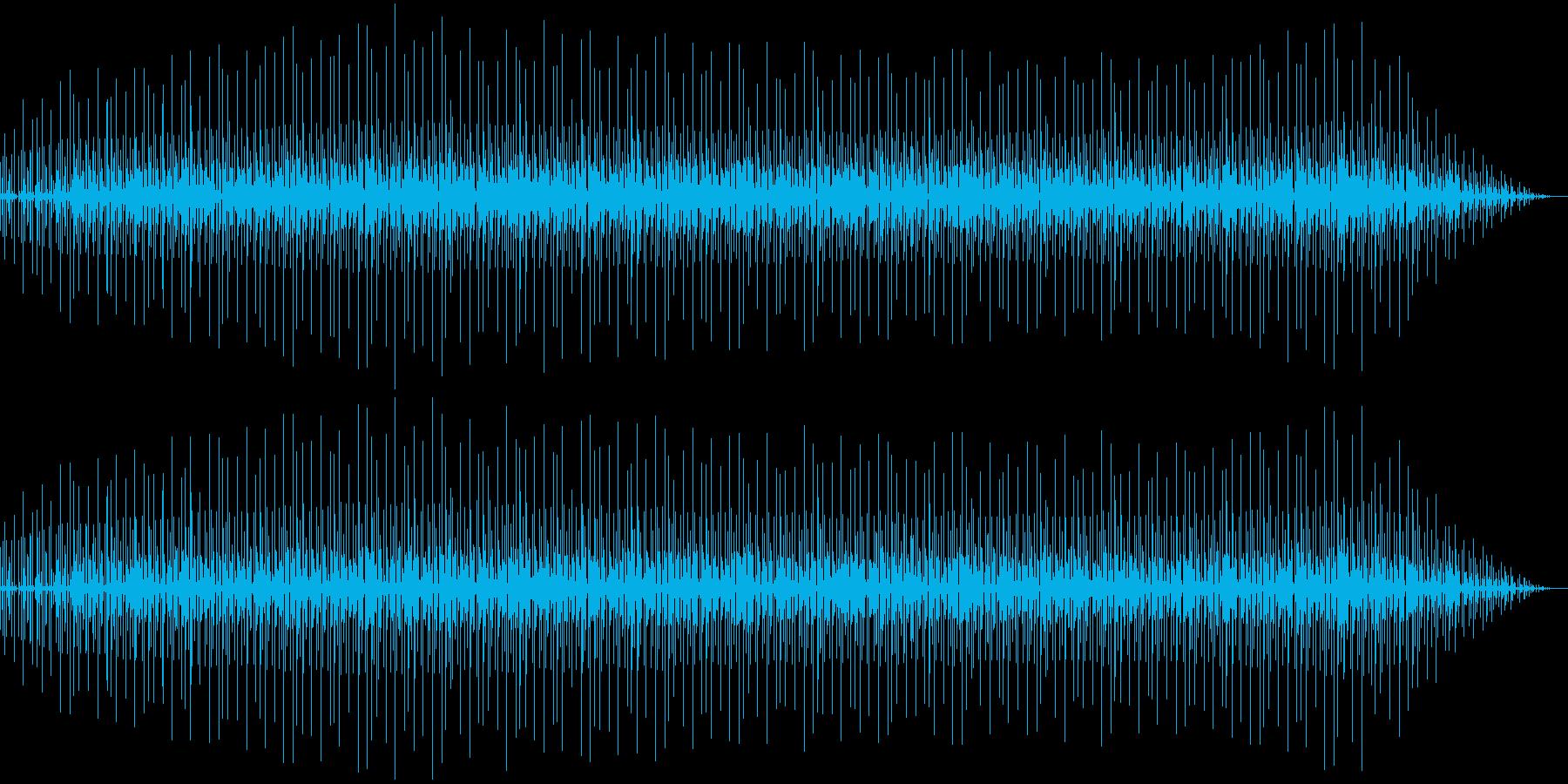 ゆったりとしたテンポのR&B調の曲の再生済みの波形