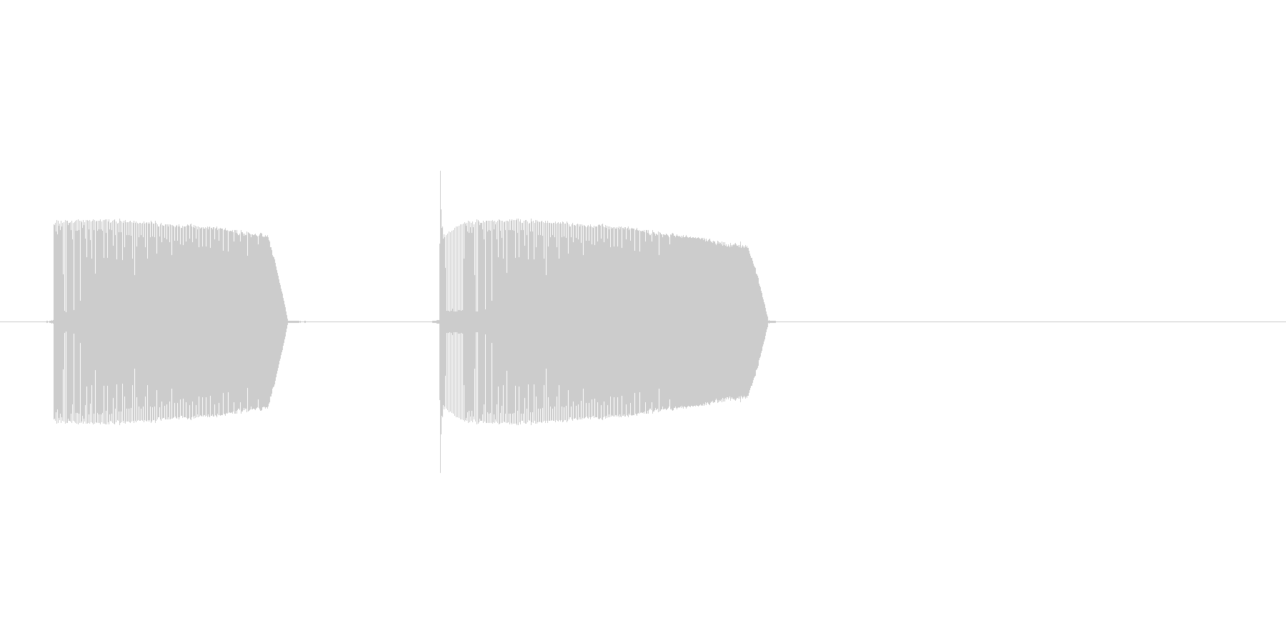 8bitのピューピューの未再生の波形