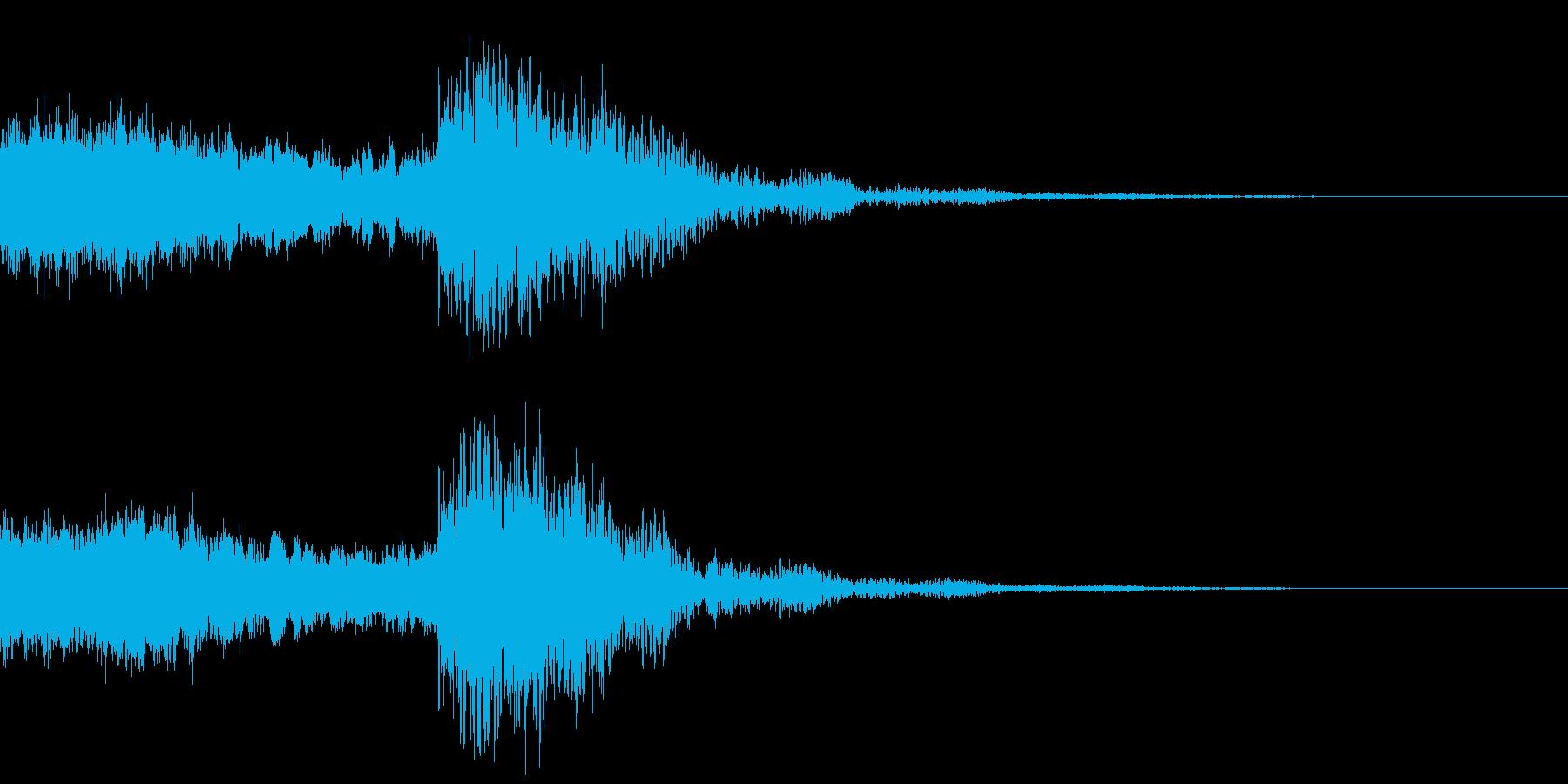 太鼓と尺八の和風インパクトジングル!14の再生済みの波形