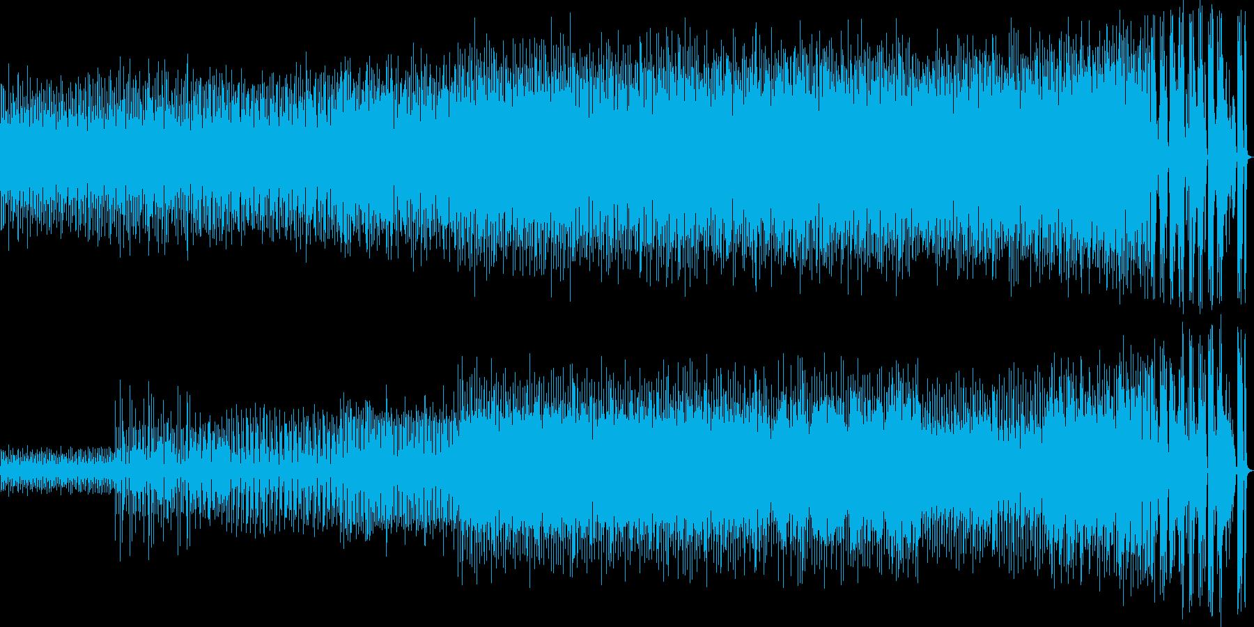 70年代アメリカ東海岸フュージョン風楽曲の再生済みの波形