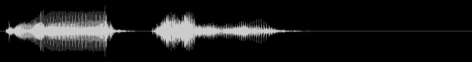 けちーの未再生の波形
