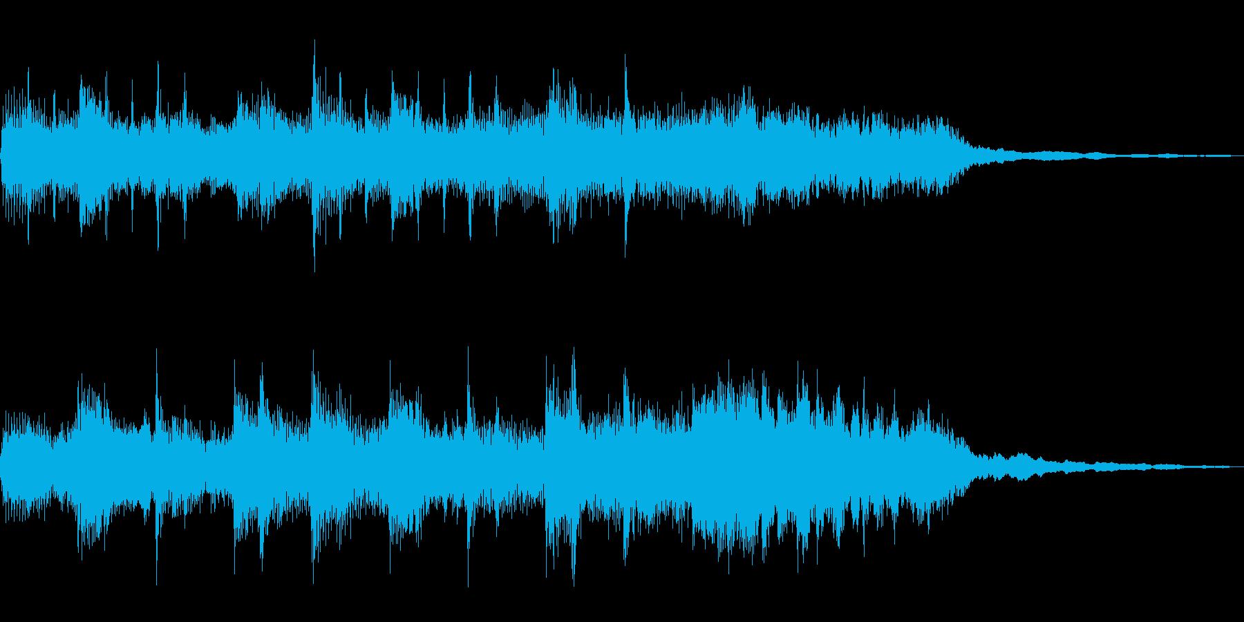 ボサノヴァ風ワルツのジングルの再生済みの波形