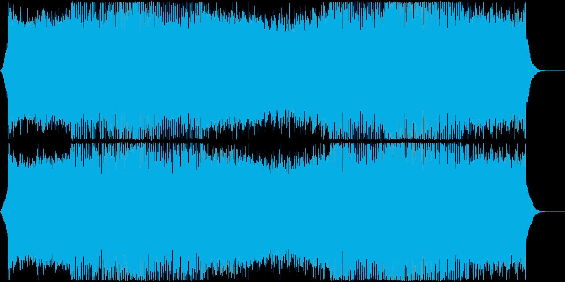 男性コーラスが印象的なロックの再生済みの波形