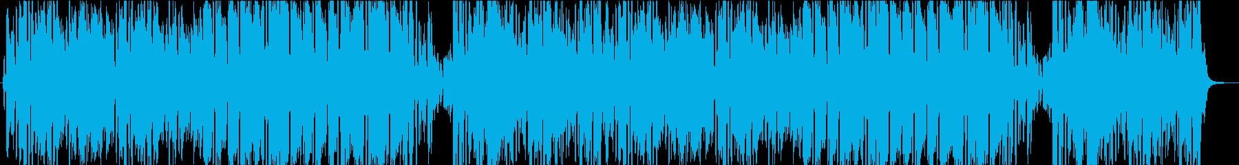 中世ヨーロッパの陽気な曲の再生済みの波形