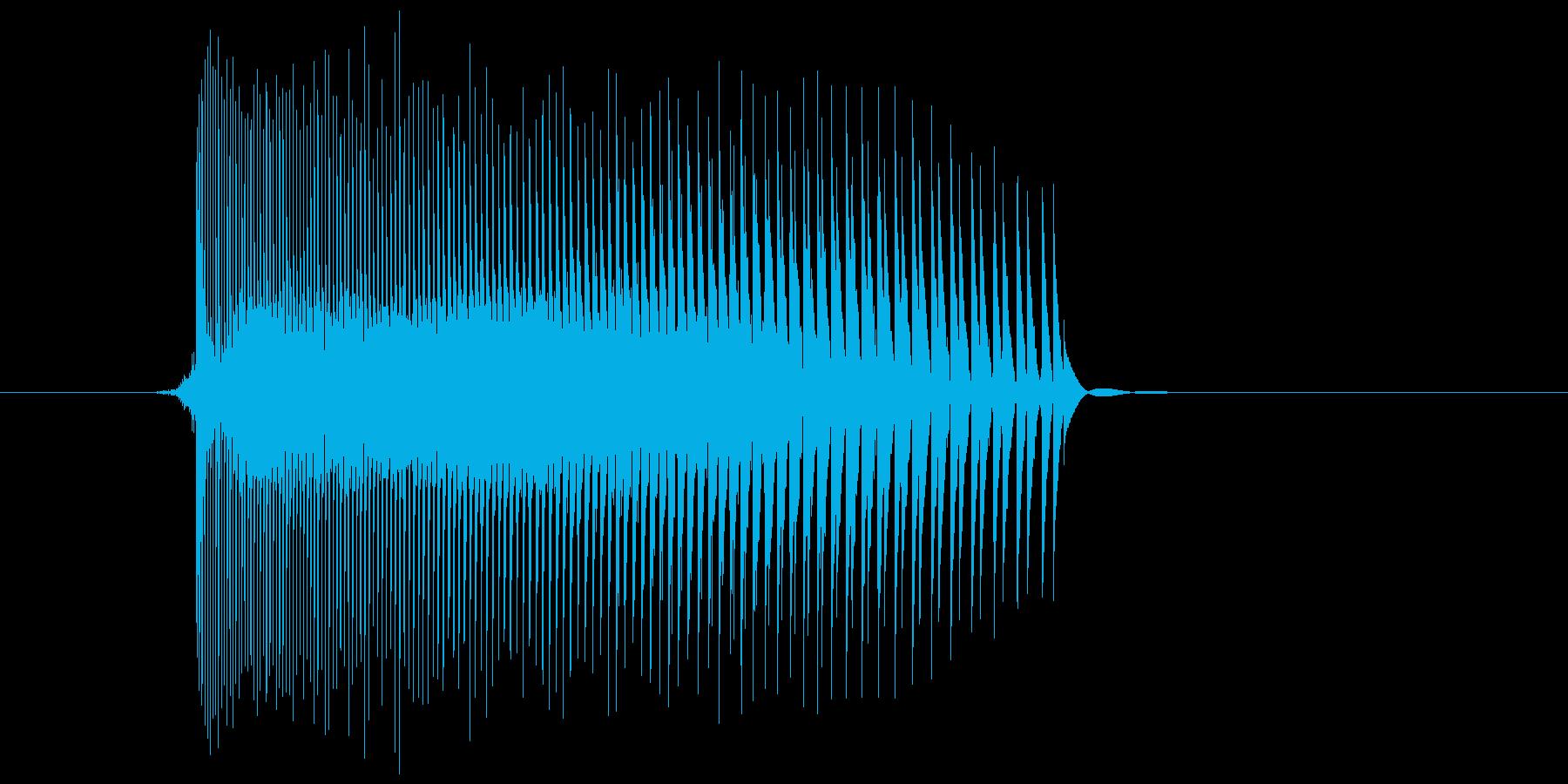 ゲーム(ファミコン風)レーザー音_006の再生済みの波形