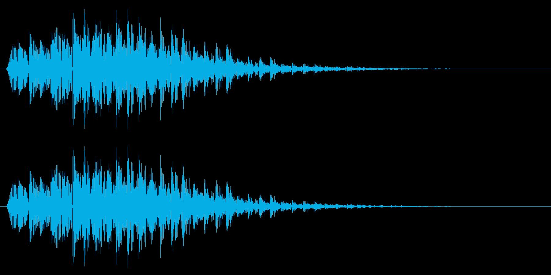場面転換/バラエティ番組/下降系の再生済みの波形