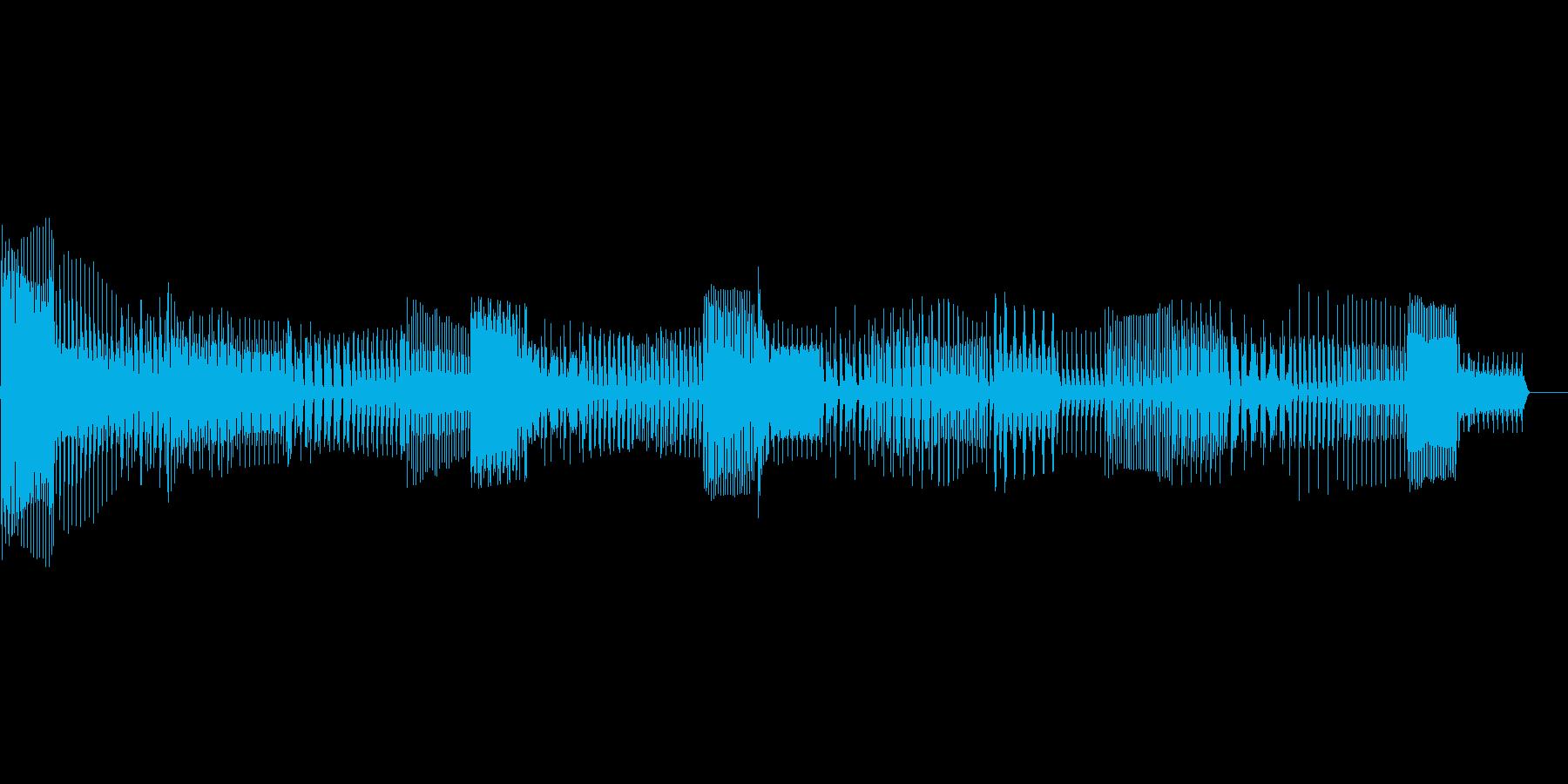 ロボット ボイスの再生済みの波形