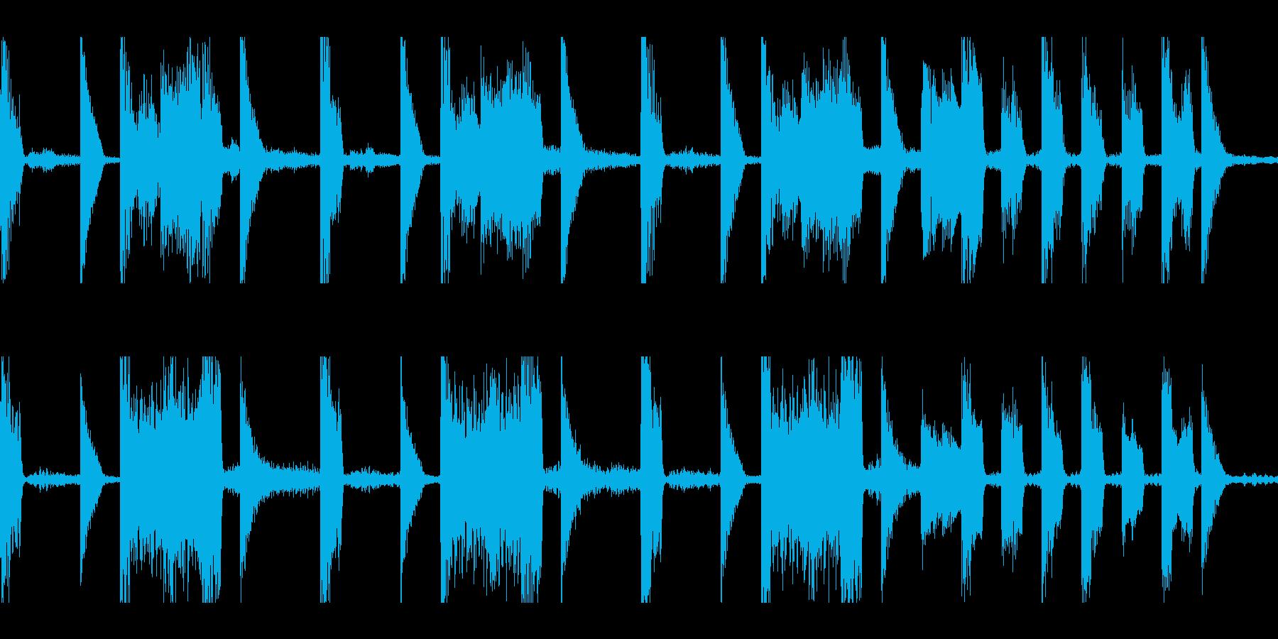 得点表示など向けのポップなループの再生済みの波形