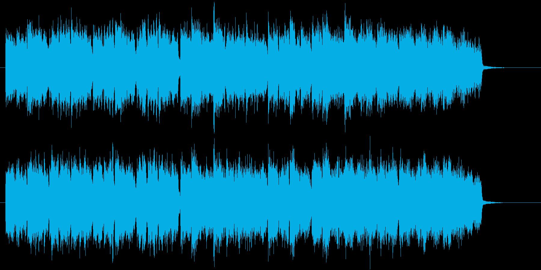 教会のコーラス隊風な曲、クリスマスの再生済みの波形