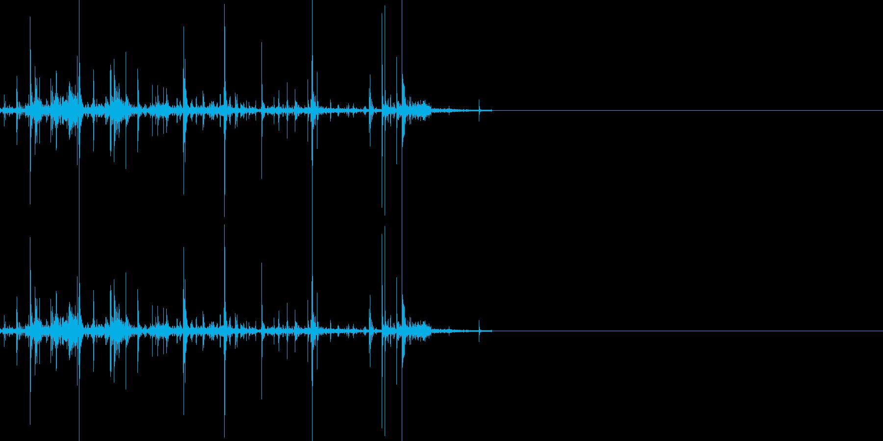 折れる音01の再生済みの波形