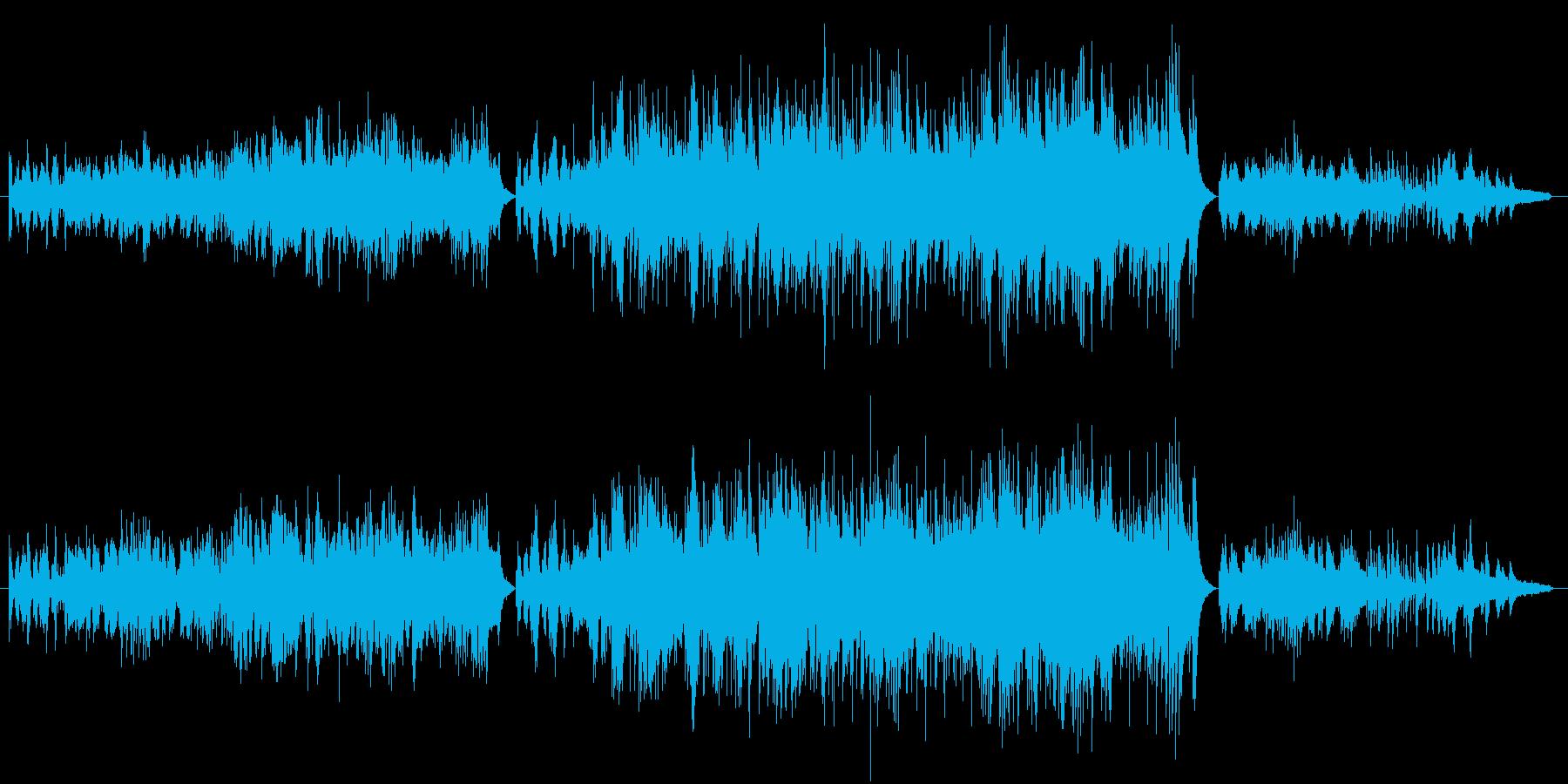 打ち込みピアノがメインのヒーリング音楽。の再生済みの波形