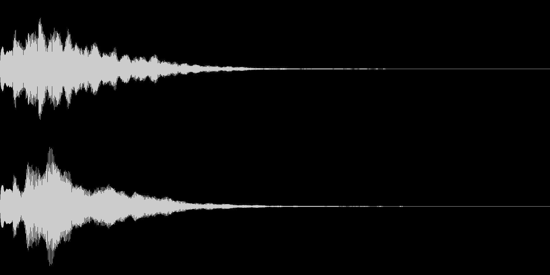 サウンドロゴ2【キラーン】の未再生の波形
