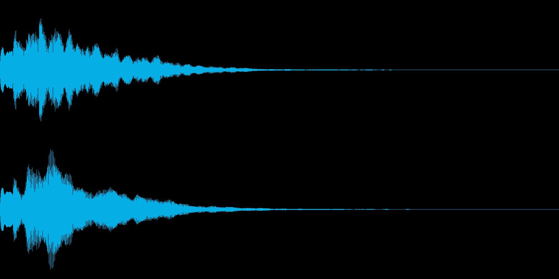 サウンドロゴ2【キラーン】の再生済みの波形