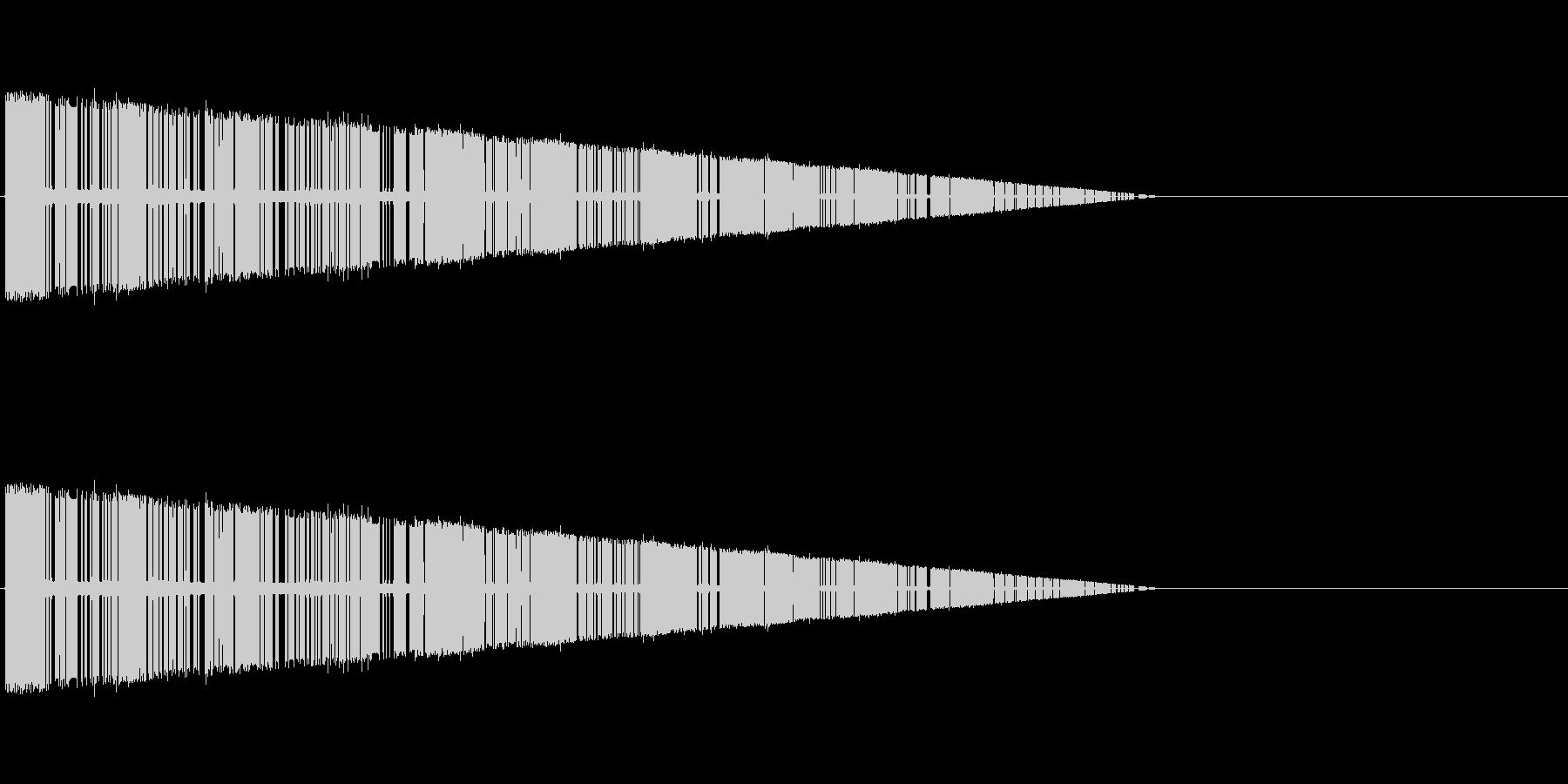 レトロゲーム風爆発音4の未再生の波形