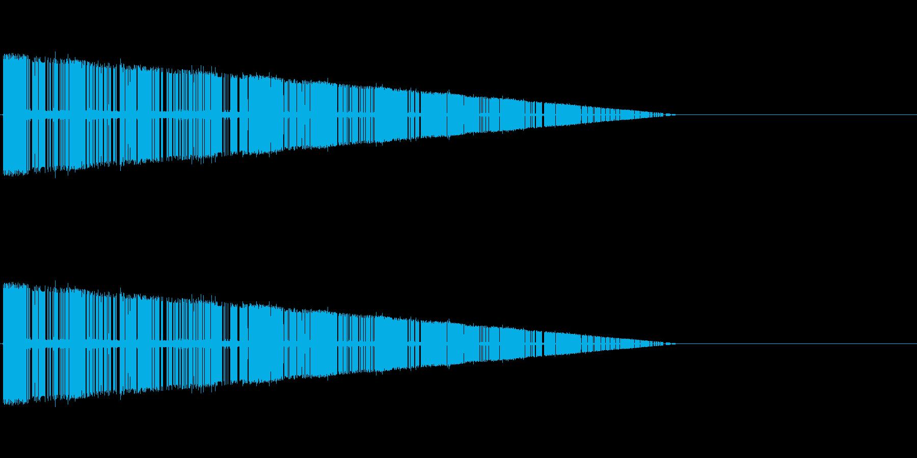 レトロゲーム風爆発音4の再生済みの波形