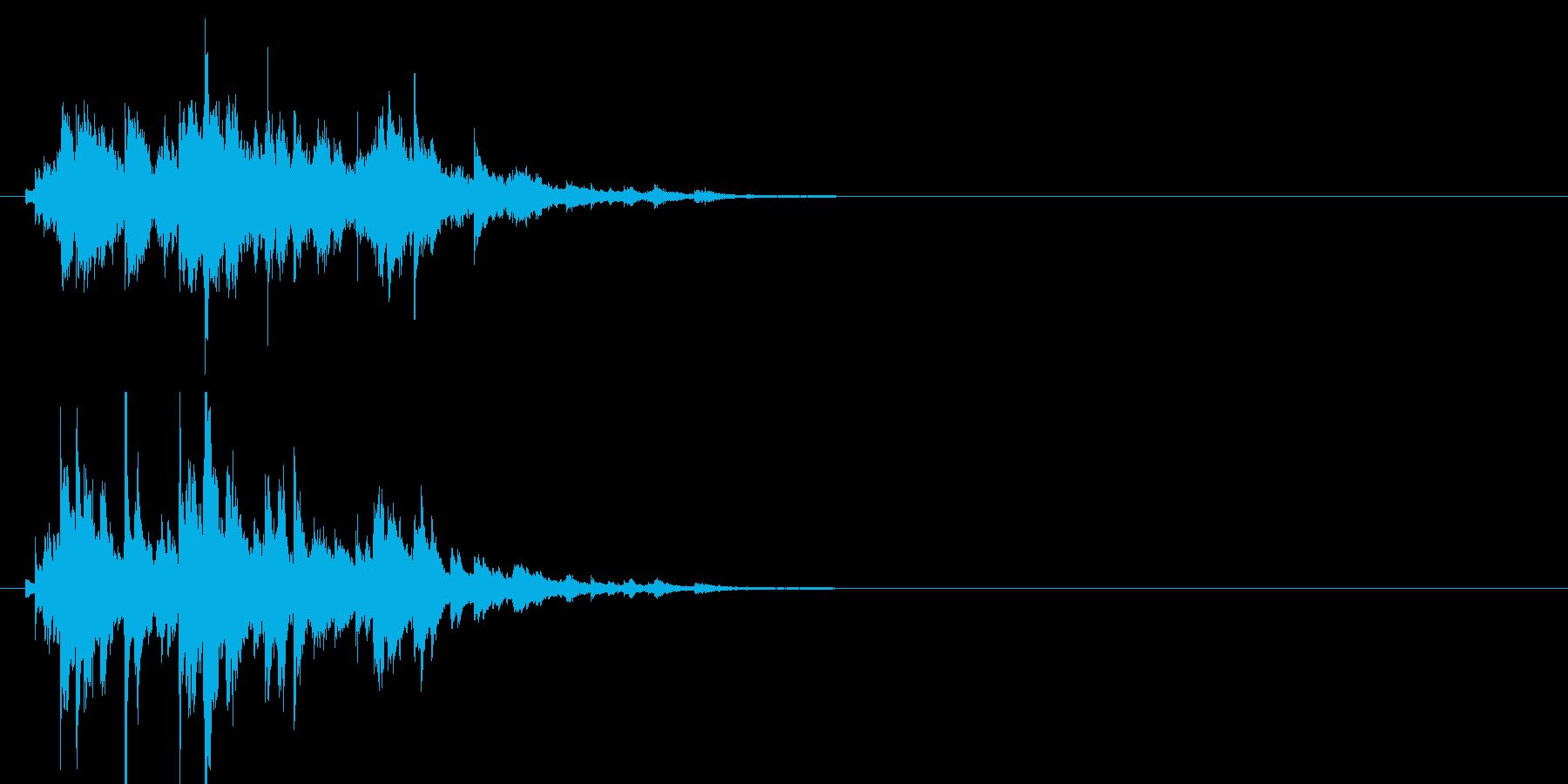 ブリリアントなウィンドチャイムの再生済みの波形