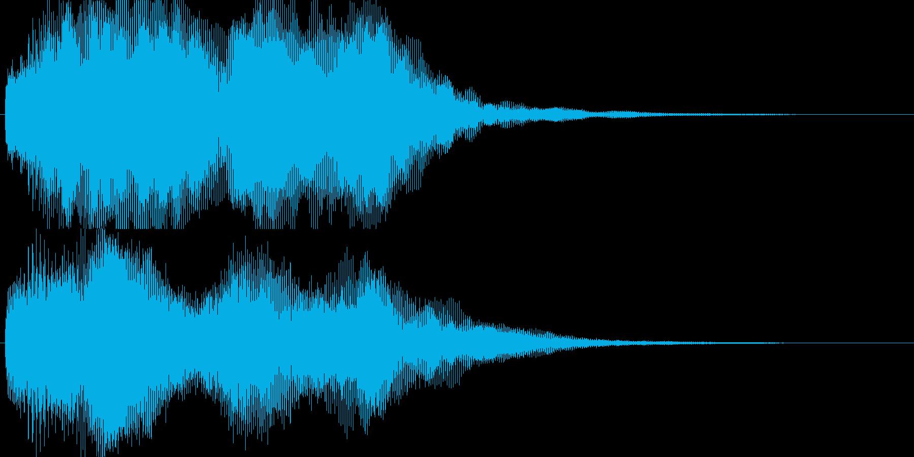 微かに聞こえる叫び声|ホラーの再生済みの波形