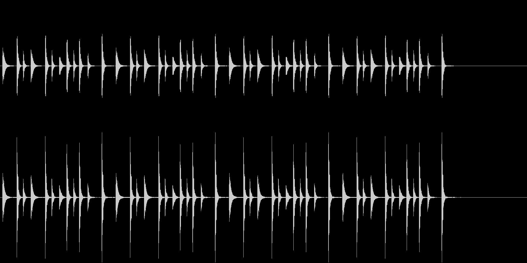 お囃子祭り軽快なコンチキのフレーズ音FXの未再生の波形