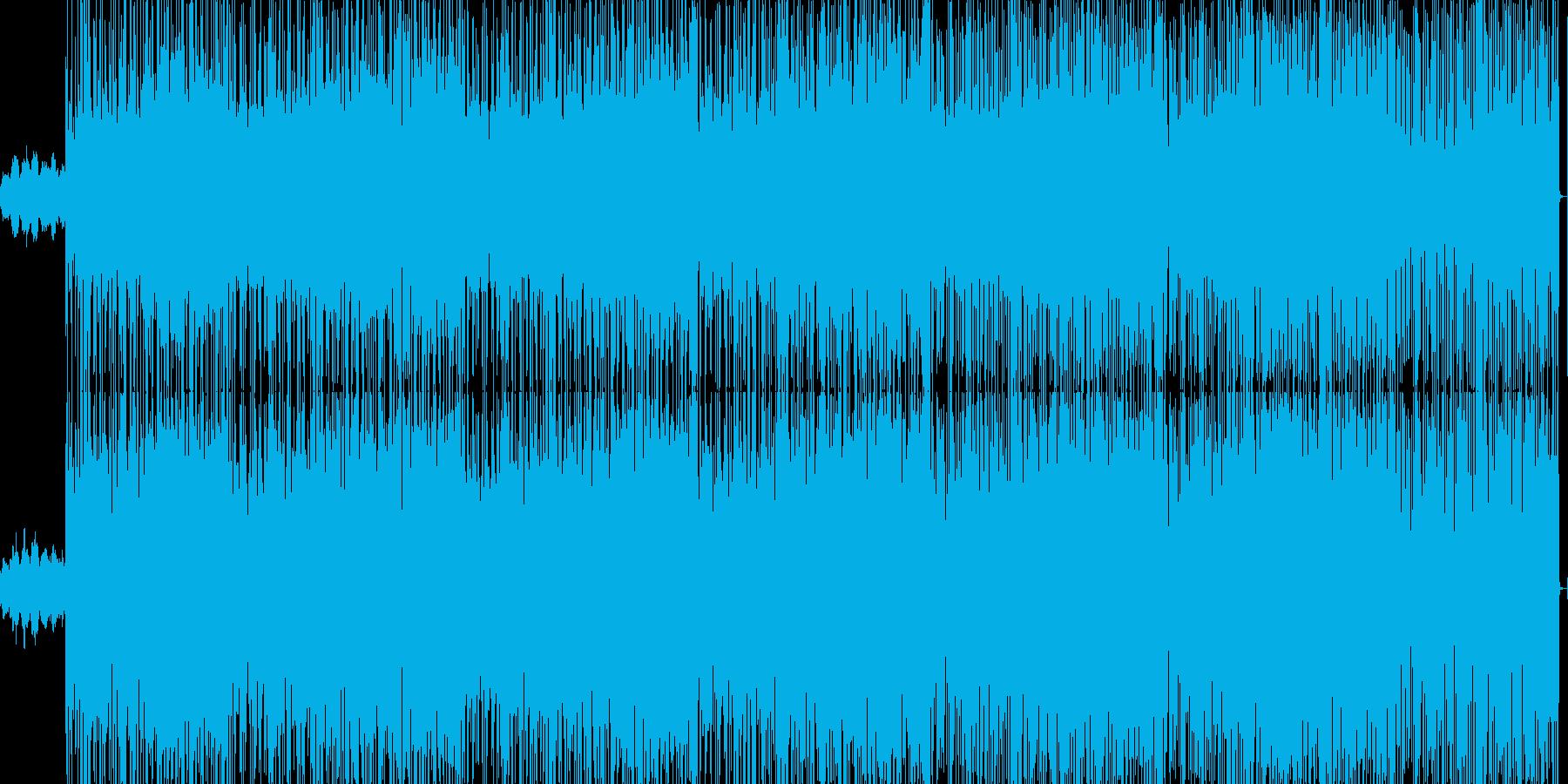 ジャズ系ドラミンベーストラックの再生済みの波形