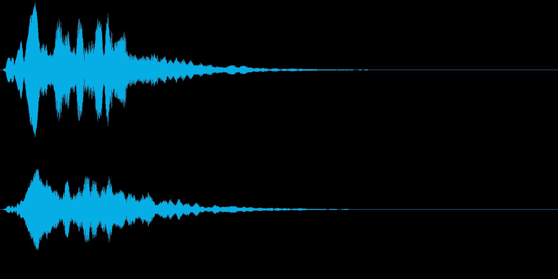 アイテム獲得や決定音等に使えます。の再生済みの波形