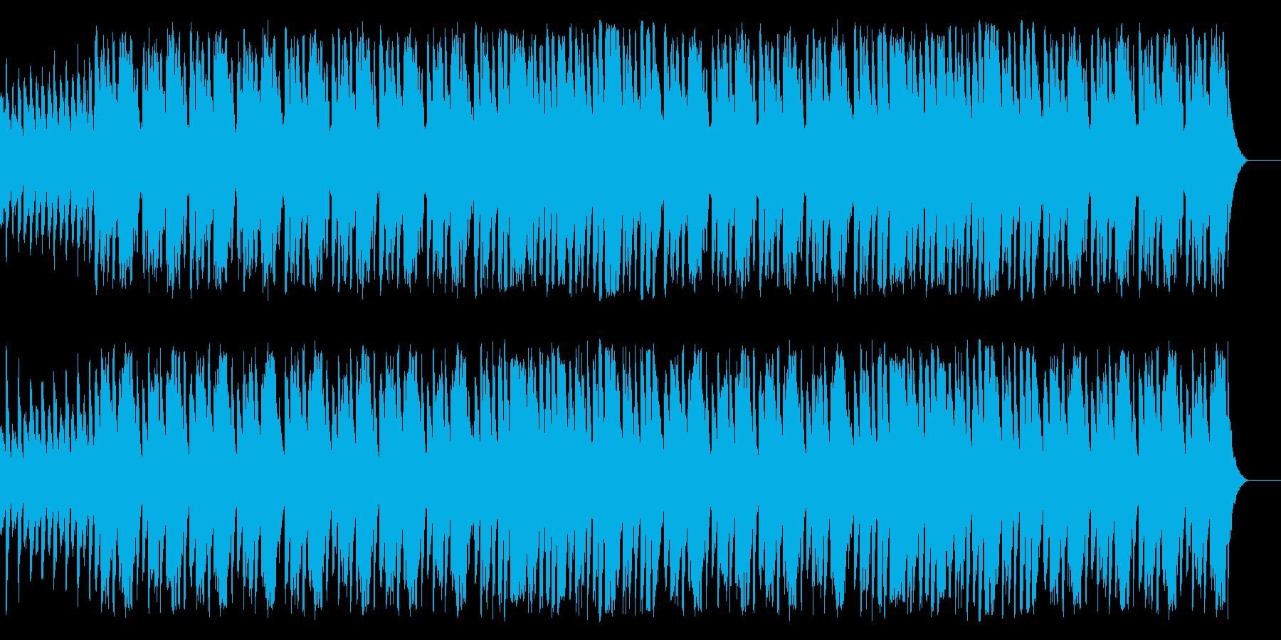 ほんわかした雰囲気の合奏曲の再生済みの波形