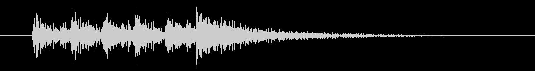 印象深いシーンの場面転換に最適なアコギ曲の未再生の波形