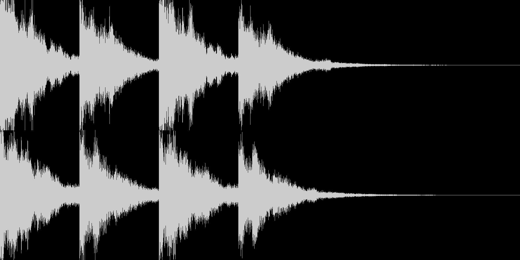 サウンドノベルに合いそうな音の未再生の波形